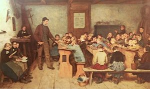 aula siglo XIX maestro cuadro